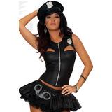 Fantasia Policial Sexy Importada Tam. M ( 36 A 38)