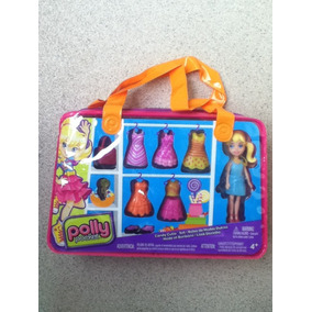 Boneca Polly Pocket Look Docinho + Bolsa + Acessórios
