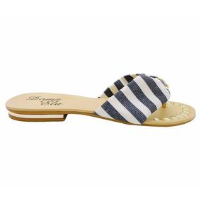 Sandálias Doma Ela Listrada Azul