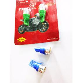Lampara Led Posicion Con Lupa Luz Azul/ Verde Jm Motos