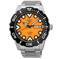 Relógio Seiko 5 Sports Laranja Automático 100m 24 Jew +frete