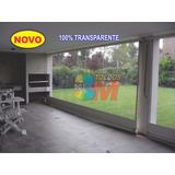 Toldo Cortina Retrátil Transparente 300,cm X 250,cm R$750,00