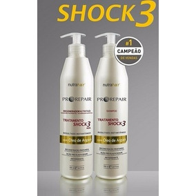 Kit Shock3 - 500ml - Regenerador Nutritivo - Nutra Hair