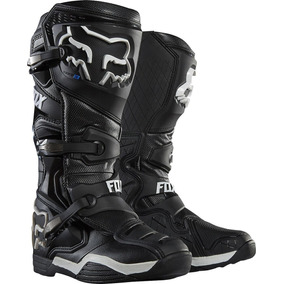 Bota Fox Comp 8 Preta/branca Ideal Motocross Trilha Enduro
