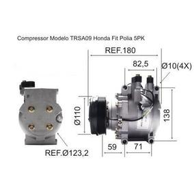 Compressor Honda Fit 2005 Polia 5pk Modelo Trsa09