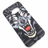 Capa Silicone Tatuagem S7 Edge G935 Lobo Ou Tigre
