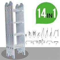 Promocion Escalera Portátil 12.5 Pulgadas 14 En 1 Importada
