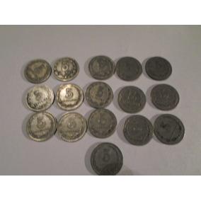 Argentina: Lote 16 Monedas De Niquel 5 Ctvs Años 1920 - 1942