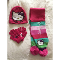 Hello Kitty Gorro, Bufana Y Guantes
