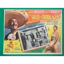 Jorge Negrete Gloria Marin Un Gallo En Corral Ajeno Cartel
