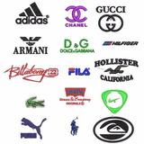 Coleção Matriz Bordados Logo Marca Carro Nike Lacoste Adi