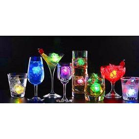 Cubo Hielo Led Rgb Sumergible Luminoso Antro Bar