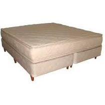 Colchon Y Sommier Queen Size 1.90 X 1.60 Resortes Reforzad