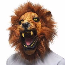 Mascara De Leon Modelo Realista Angry Lion Disfraz W3018