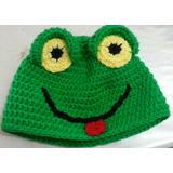 Gorro Lana Tejido Al Crochet - Sapo Pepe