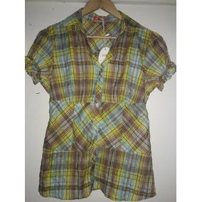 Camisa De Dama Manga Corta.