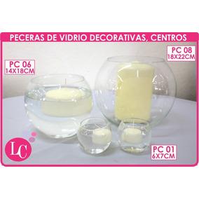 Setx5 Peceras Bocha Vidrio Decorativa O Centro ( Pc01 6x7cm)