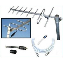 Antena Tv Digital Tdt Tda Uhf 8e + 10 Mt Cable Mercadoenvios