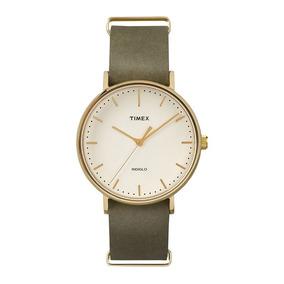 Relógio Timex Weekender Tw2p98000ww/n Pulseira De Couro