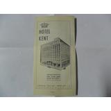 Hotel Kent Santiago Chile Antigua Publicidad 1968