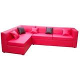 Sillon Esquinero En Eco Cuero Y Placas Soft Super Confort