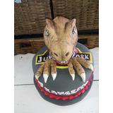 Torta Artesanal Con Forma De Dinosaurio Jurasic Park Zonasur
