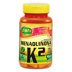 Vitamina K2 Menaquinona 60 Capsulas 500 Mg - 2 Unidades.