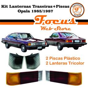 Kit Lanternas Traseiras + Piscas Opala 85 86 87 Fumê