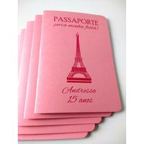 Convites Debutante 15 Anos Passaporte | 10 Unidades