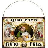 Cartel De Chapa Publicidades Cerveza Quilmes M521 20x28cm