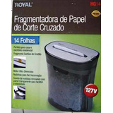 Fragmentadora De Papel E Trituradora Royal 14 - Cartão Cd