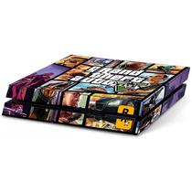 Skin Ps4 Gta V Grand Theft Auto Para Consola 2 Mandos Ver.1