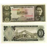 Bolivia - Billete 10 Bolivianos 1962 - Nuevo!!!!