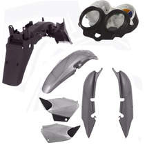 Kit Carenagem Plástico P/ Cg 125 Titan Ano 2000 2001 - Cinza