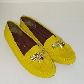 Mocassin Amarelo Confort Lançamento Promoção Barato