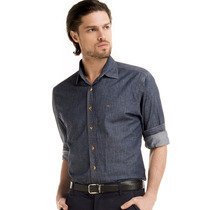 Camisa Jeans Masculina Slim Buon Giorno Giovane