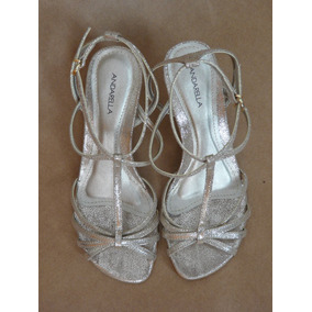 Sandália Dourada Glitter 35 - Andarella