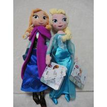 Elsa E Ana 2 Bonecas De Plush Frozen De 30 Cm - Original