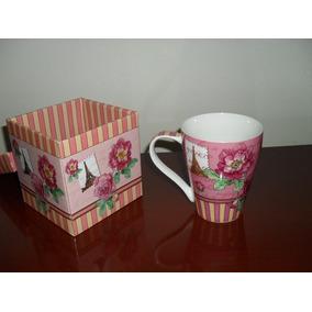 Caneca Decorada Em Ceramica Com Caixa