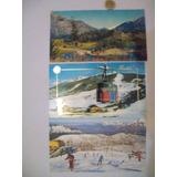 Postal Bariloche Lotex3 Pista Nieve Montañas Años 80 Retro
