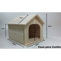 Casa Para Coelho Em Madeira De Pinus