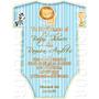 Tarjetas De Invitacion Baby Shower Tipo Ropa De Bebe - Epv