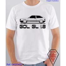 Camiseta Personalizada Com Estampa Carro Gol Gl 1.8 Veículos