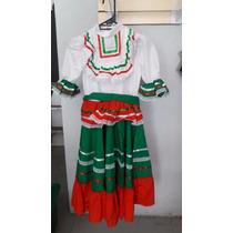Disfraz Vestido Jalisco Tricolor Traje Mexicano 15 Sep Niña