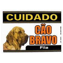 Placa De Advertência Fila Brasileiro. Fixação Obrigatória!!