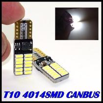 Lampada T10 24 Leds 4014 Canbus 6000k Teto Peugeot 206 207