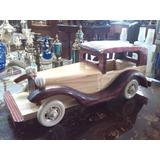 Carro Antiguo En Madera Tallado Importado De Coleccion