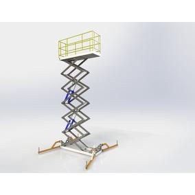 Projeto Elevador Pantográfico 1txalt 6.5mts X Base 3x0.9mts