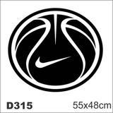 Adesivo Decorativo Bola Basquete Nike D315