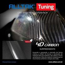 Adesivo Envelopamento Tuning Fibra Carbono 4d - 1,50m X 30cm